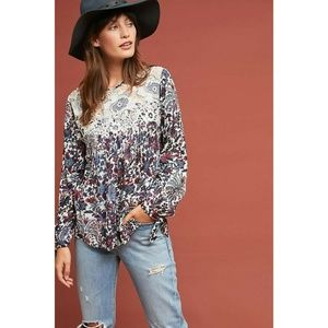 New Anthropologie Madison Floral Blouse by Ranna